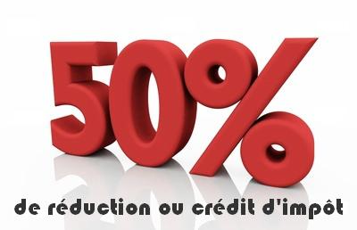50% de crédit d'impot